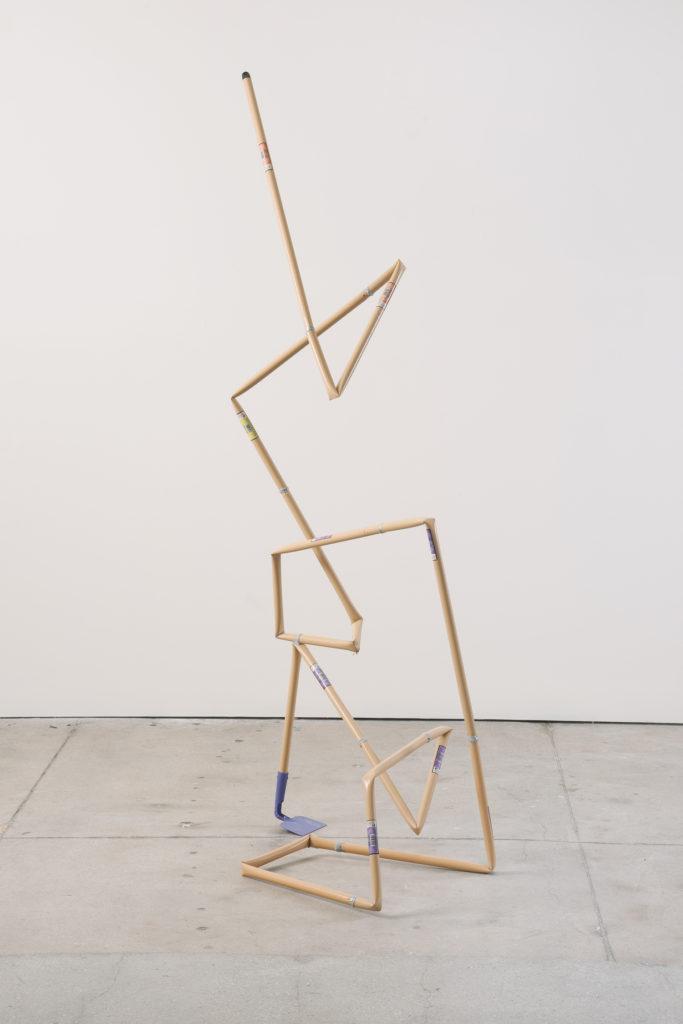Hoe 2013 sculpture by Aaron King hoe, epoxy 75'' x 31'' x 28''