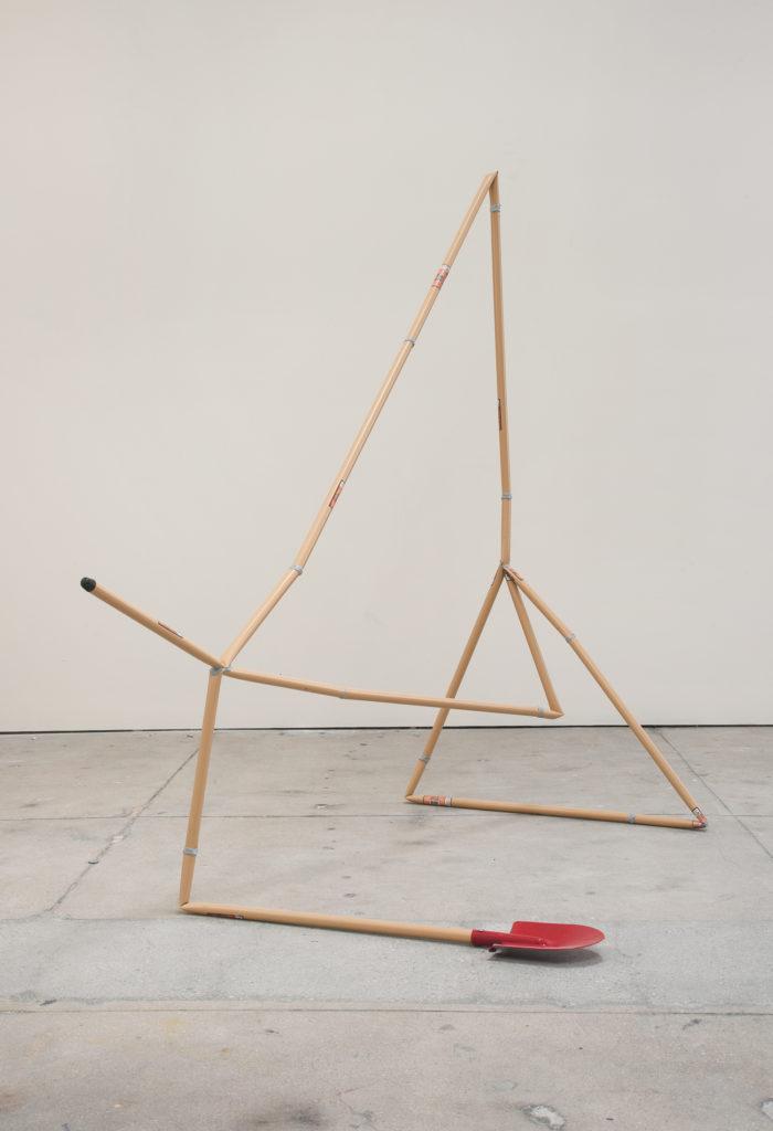 Shovel, 2013 sculpture by Aaron King metal, epoxy 64''x 45'' x 36''
