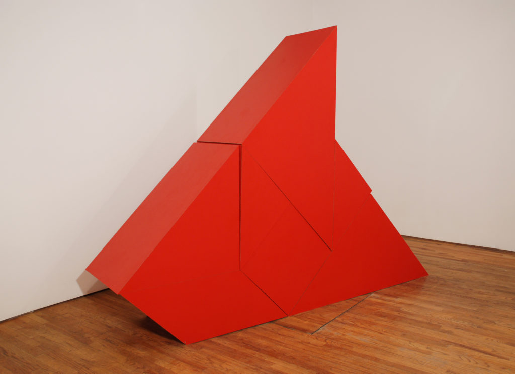 Untitled 2009 sculpture by Aaron King formica, mdf 122'' x 87'' x 24''