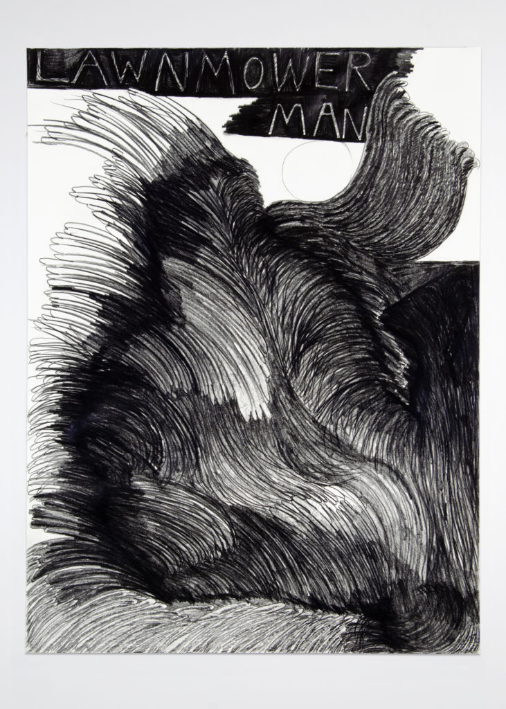 Lawnmower Man 2020 Drawing by Aaron King Art 18''x24''