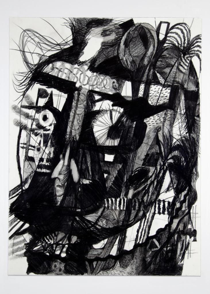 Head 2020 Drawing by Aaron King Art 18''x24''
