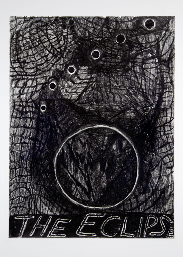 The Eclipse 2020 Drawing by Aaron King Art 18''x24''