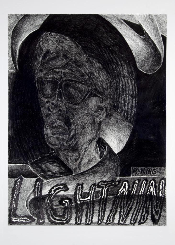 Lightnin 2020 Drawing by Aaron King Art 18''x24''
