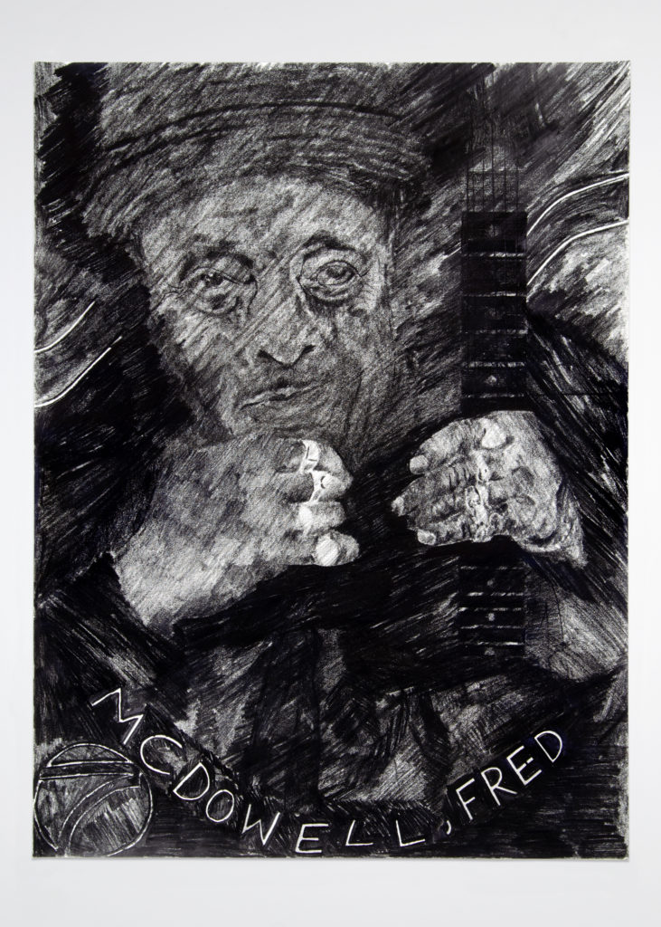 Freds Hands 2020 Drawing by Aaron King Art 18''x24''