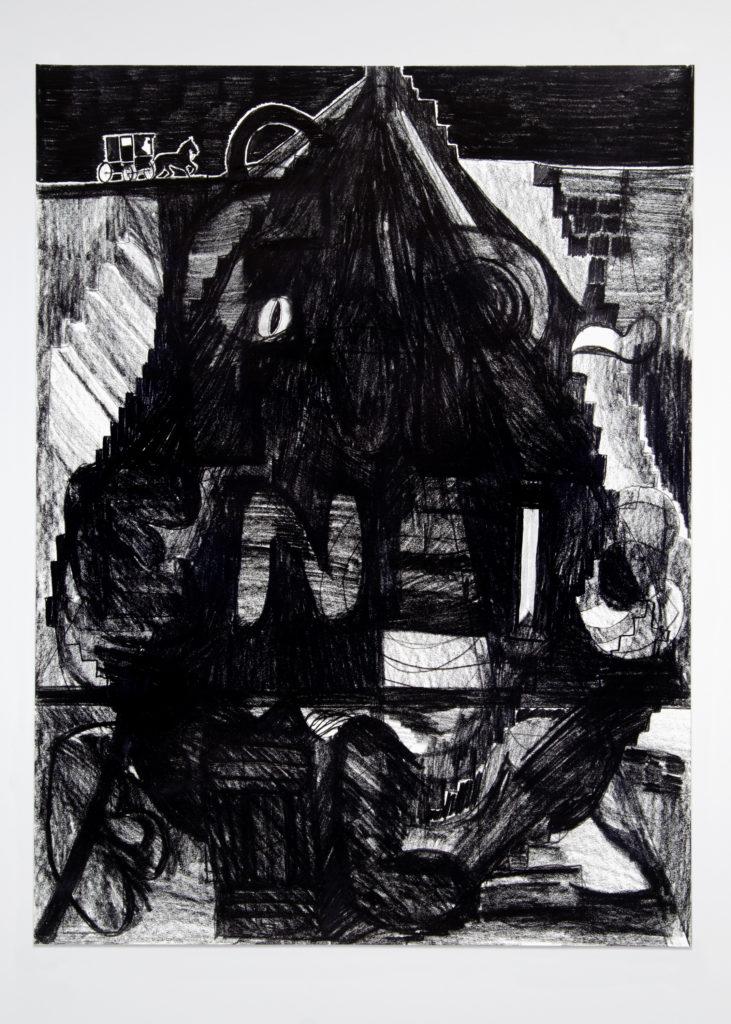 Pyramid 2020 Drawing by Aaron King Art 18''x24''