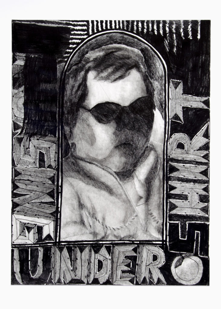 Bruising Under Shirt 2020 Drawing by Aaron King Art 18''x24''